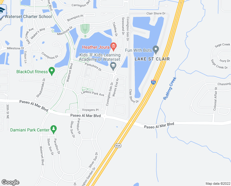 map of restaurants, bars, coffee shops, grocery stores, and more near 7501 Sea Mark Court in Apollo Beach