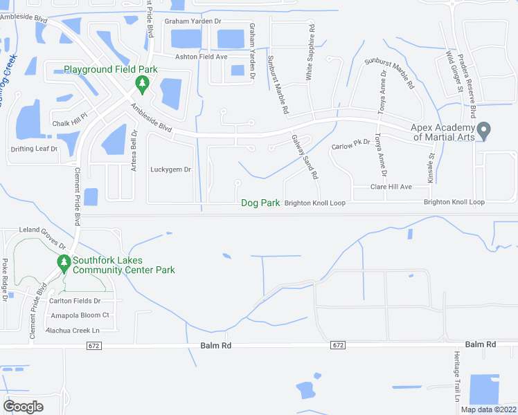 map of restaurants, bars, coffee shops, grocery stores, and more near 11879 Brighton Knoll Loop in Riverview