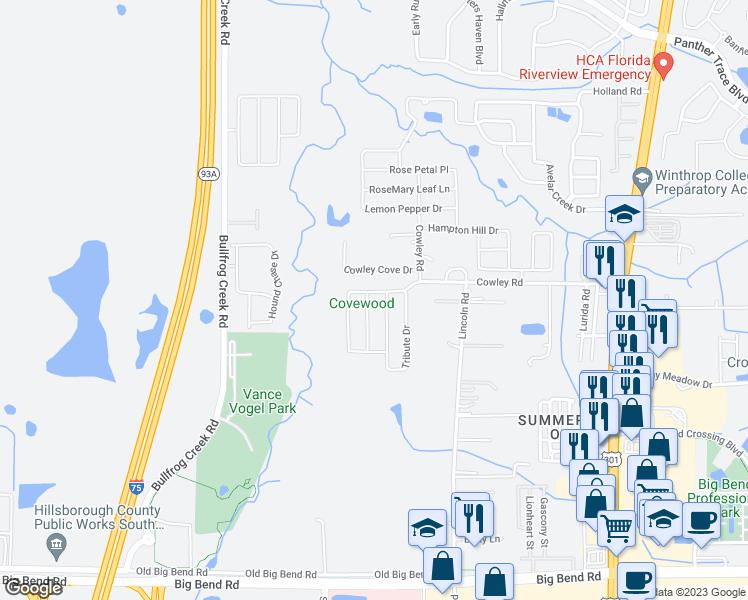 Riverview Florida Map.12904 Brookcrest Place Riverview Fl Walk Score