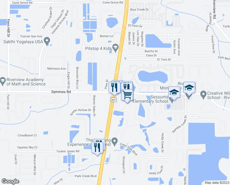 Riverview Florida Map.U S 301 Symmes Rd Riverview Fl Walk Score
