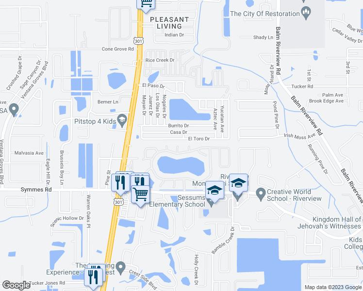 Riverview Florida Map.11104 Havasu Court Riverview Fl Walk Score