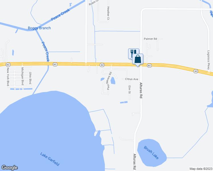 Bartow Florida Map.127 Paul Revere Road Bartow Fl Walk Score