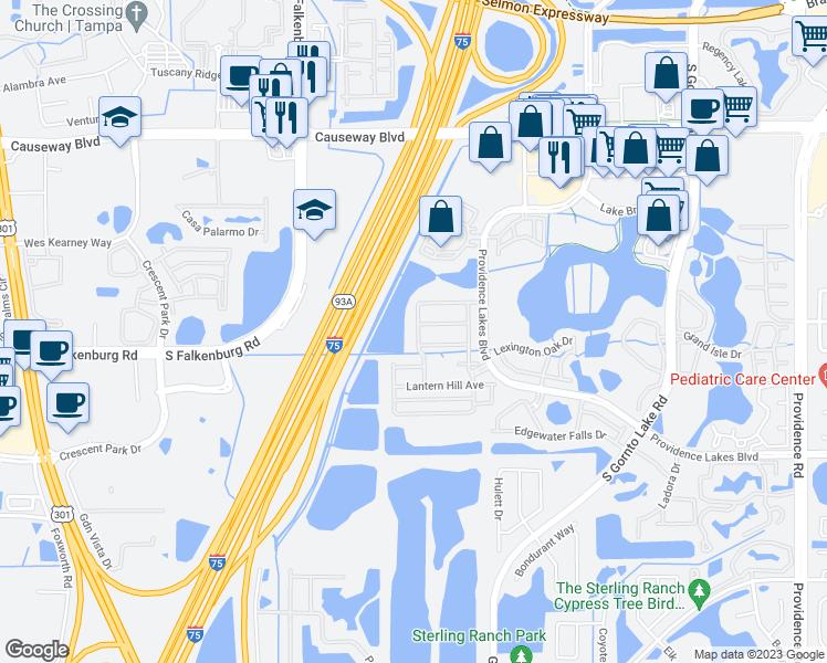 Map Of Brandon Florida.1229 Ballard Green Place Brandon Fl Walk Score