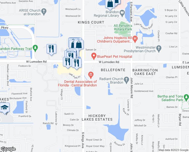 Map Of Brandon Florida.631 West Lumsden Road Brandon Fl Walk Score