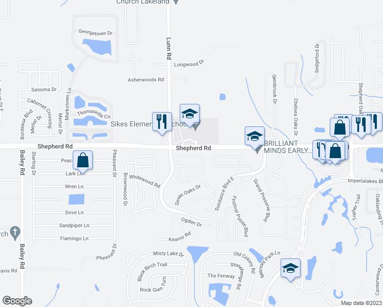 Mulberry Florida Map.2693 Sundance Circle Mulberry Fl Walk Score