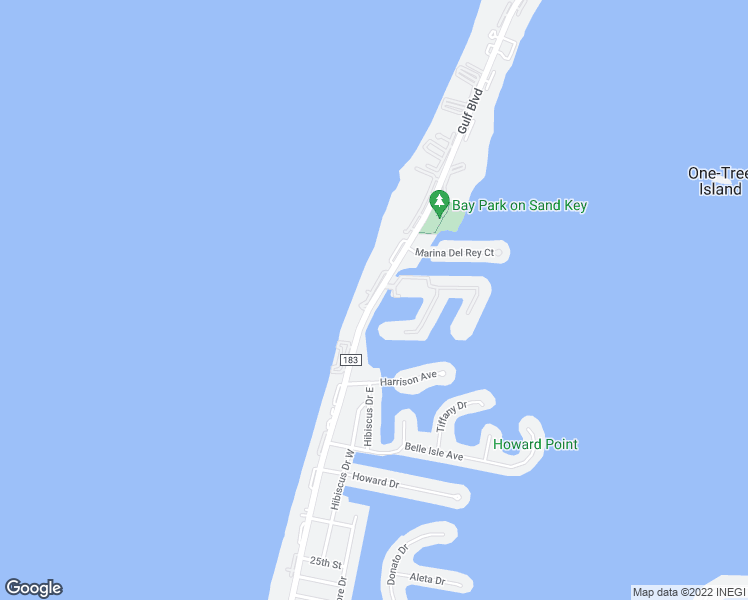 map of restaurants, bars, coffee shops, grocery stores, and more near 1655-1685 Gulf Boulevard in Clearwater