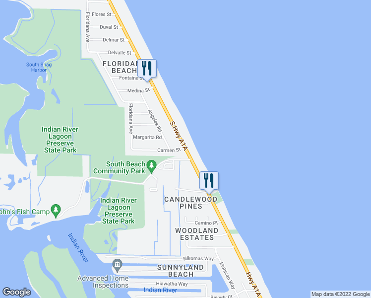 Melbourne Beach Florida Map.6910 Nathan Lester Highway 1 Melbourne Beach Fl Walk Score