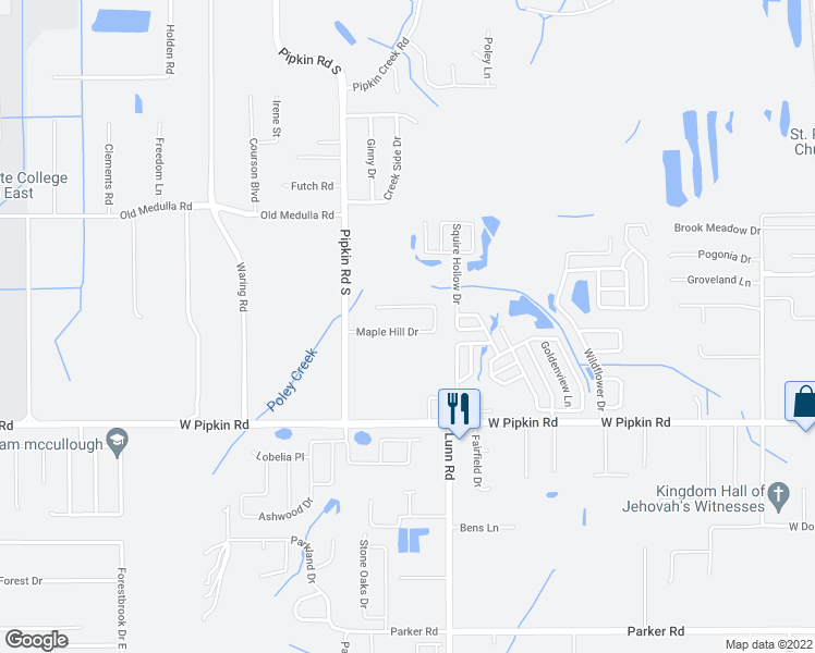 map of restaurants, bars, coffee shops, grocery stores, and more near 2249 Maple Hill Drive in Lakeland