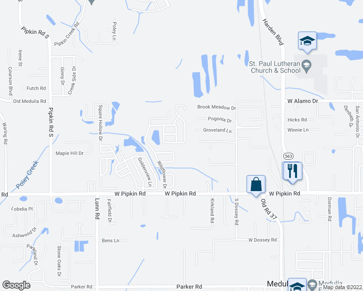 map of restaurants, bars, coffee shops, grocery stores, and more near 1394 Bramblewood Drive in Lakeland