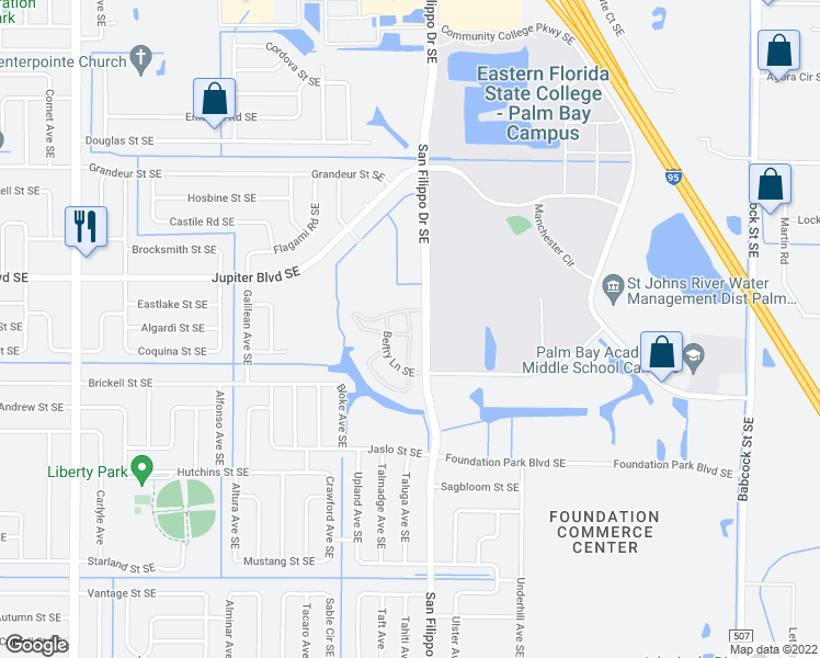 Map Of Palm Bay Florida.610 Loffler Circle Southeast Palm Bay Fl Walk Score