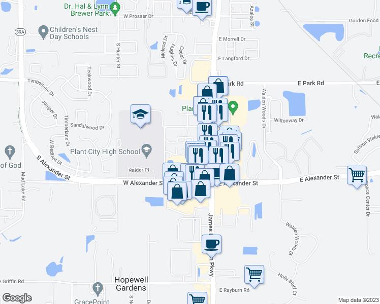 Plant City Florida Map.2302 South Maki Road Plant City Fl Walk Score