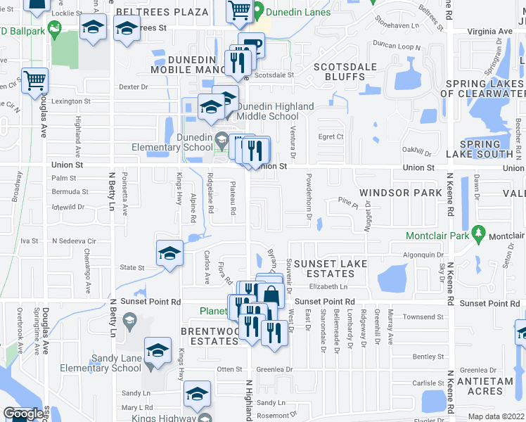 Map Of Clearwater Florida.2035 Strathmill Drive Clearwater Fl Walk Score