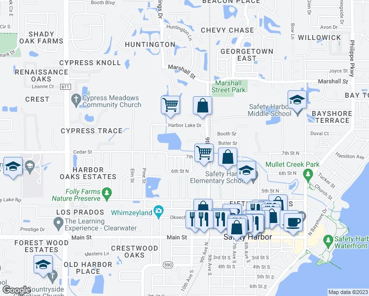 Safety Harbor Florida Map.960 Harbor Lake Court Safety Harbor Fl Walk Score