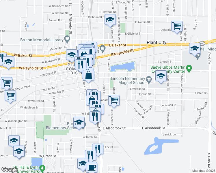 Map Of Plant City Florida.405 South Lake Street Plant City Fl Walk Score