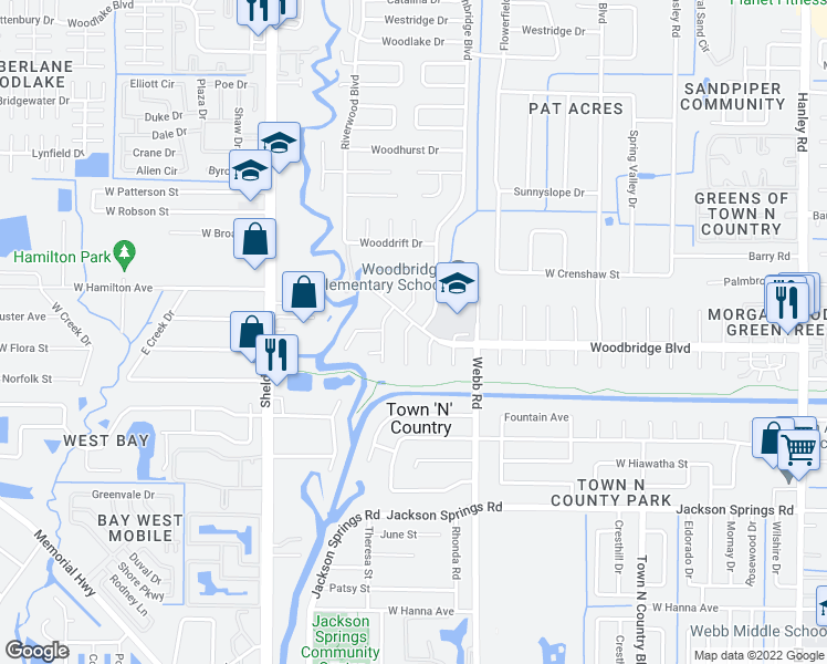 map of restaurants, bars, coffee shops, grocery stores, and more near 7015 Cobblewood Court in Tampa