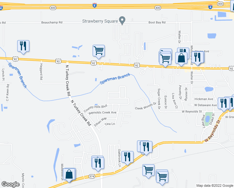 map of restaurants, bars, coffee shops, grocery stores, and more near 534 Scarlet Maple Court in Plant City