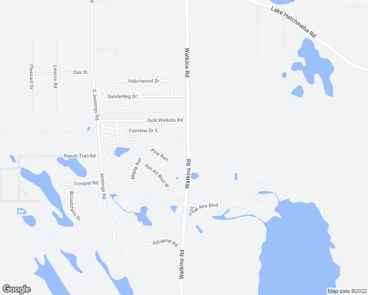 map of restaurants, bars, coffee shops, grocery stores, and more near 56 Buck Circle in Haines City