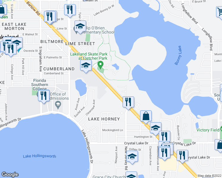 US Highway South Lakeland FL Walk Score - Map of grocery stores in us