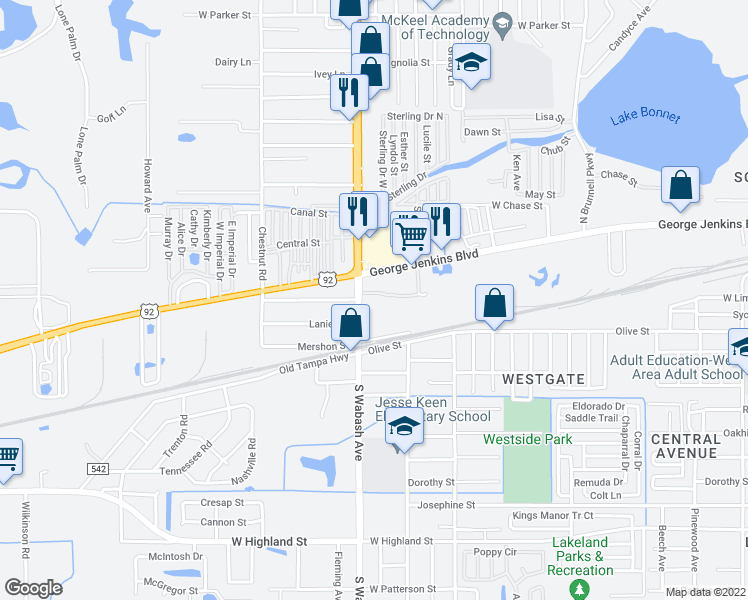 Lakeland Florida Map.212 Chestnut Road Lakeland Fl Walk Score