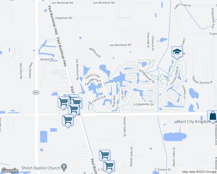 Plant City Florida Map.168 Mockingbird Hill Plant City Fl Walk Score