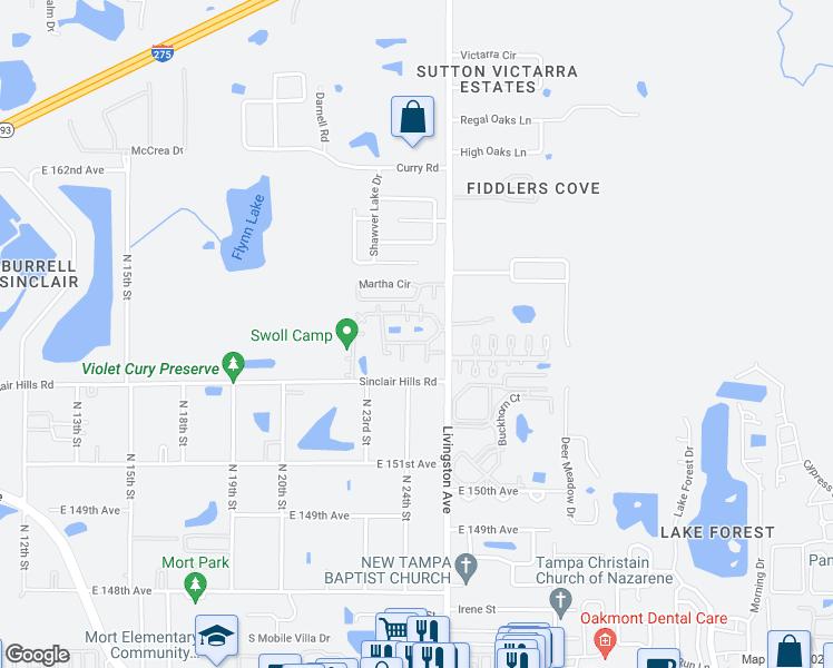 Lutz Florida Map.15420 Livingston Avenue Lutz Fl Walk Score