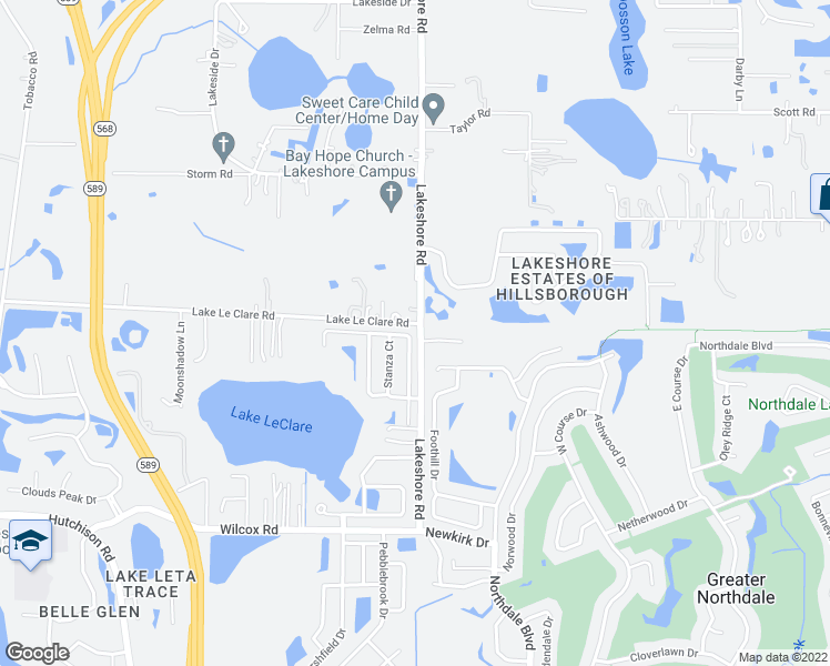 map of restaurants, bars, coffee shops, grocery stores, and more near 5143 Corvette Drive in Tampa