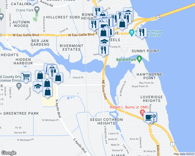 map of restaurants, bars, coffee shops, grocery stores, and more near 831 Spiller Street in Melbourne