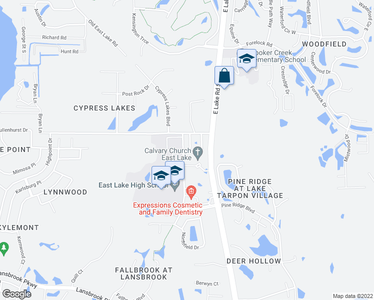 map of restaurants, bars, coffee shops, grocery stores, and more near 3016 Savannah Oaks Circle in Tarpon Springs