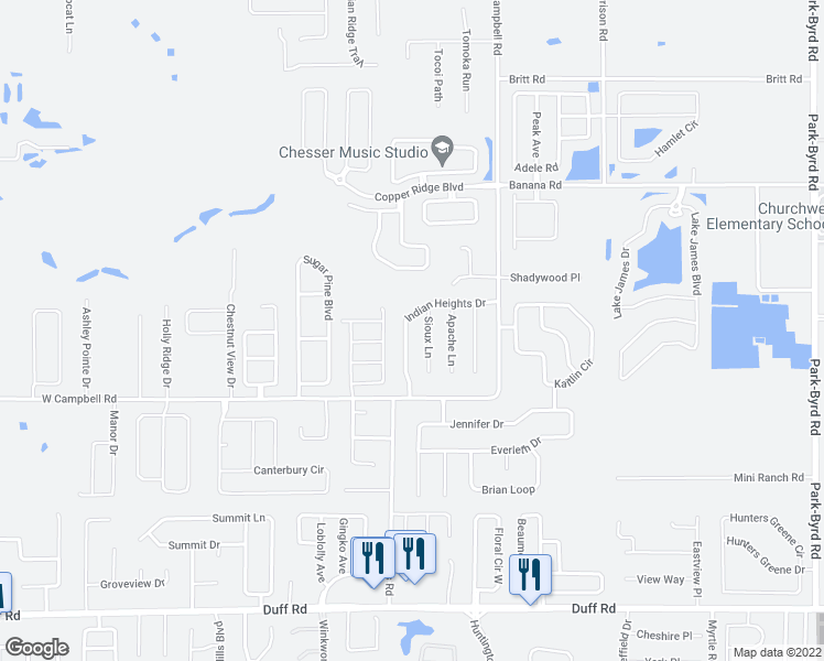 map of restaurants, bars, coffee shops, grocery stores, and more near 7955 Indian Heights Drive in Lakeland