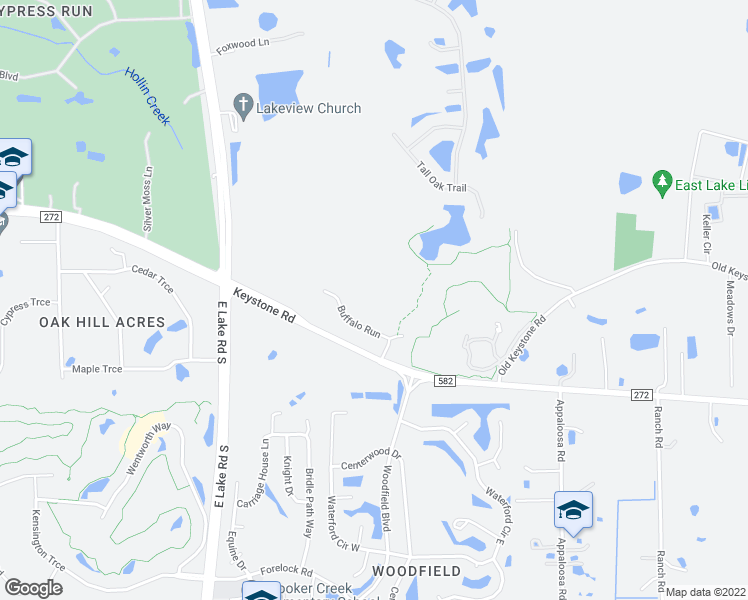 map of restaurants, bars, coffee shops, grocery stores, and more near 3255 Buffalo Run in Tarpon Springs