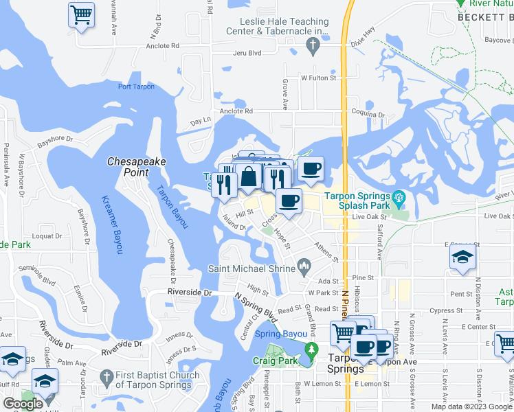 Tarpon Springs Florida Map.615 Hope Street Tarpon Springs Fl Walk Score