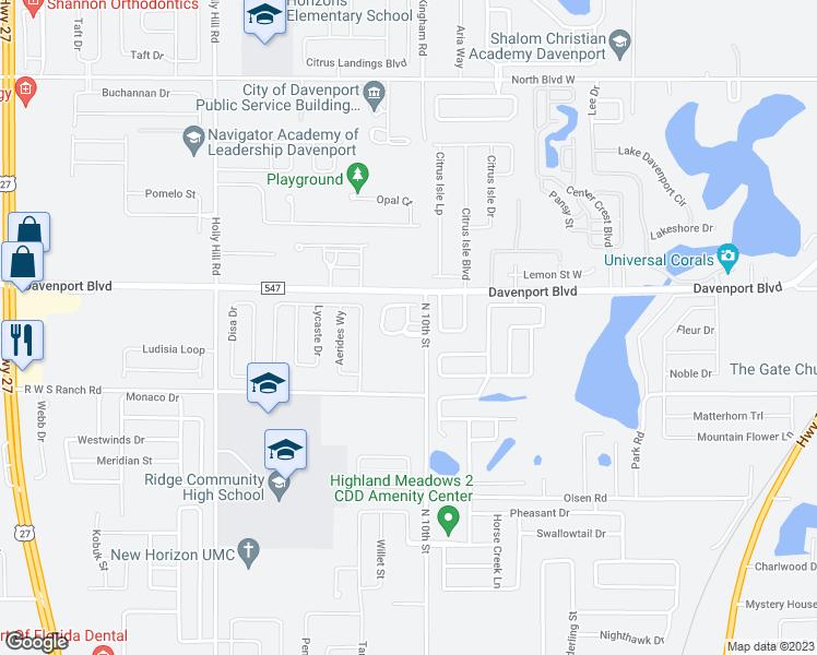 Map Of Davenport Florida.131 Melissa Place Davenport Fl Walk Score