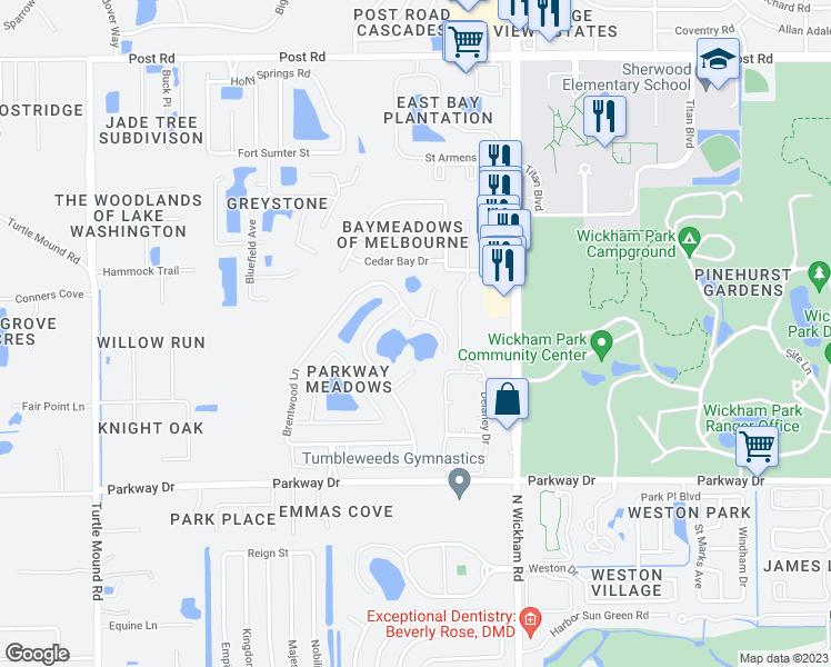 Eastern Florida State College Map.3487 Ashwood Court Melbourne Fl Walk Score