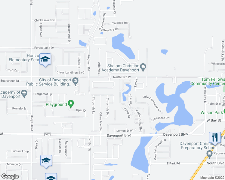 Map Of Davenport Florida.640 Cadiz Loop Davenport Fl Walk Score