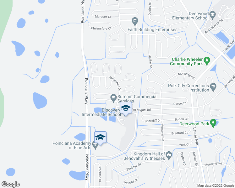 map of restaurants, bars, coffee shops, grocery stores, and more near 413 Greenwich Court in Kissimmee