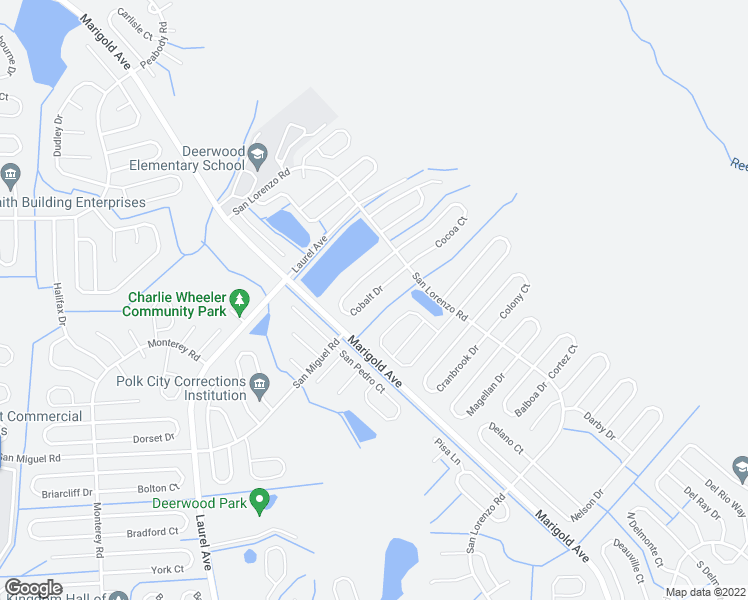 map of restaurants, bars, coffee shops, grocery stores, and more near 225 Cobalt Drive in Kissimmee