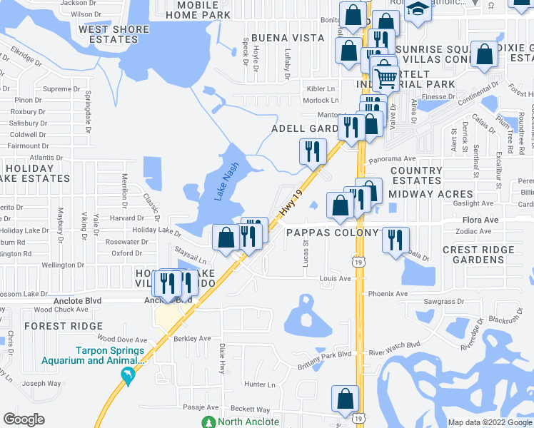 Holiday Florida Map.1251 Weston Oaks Drive Holiday Fl Walk Score