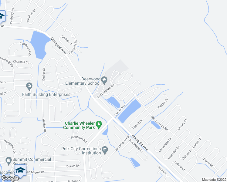 map of restaurants, bars, coffee shops, grocery stores, and more near 1019 Darlington Court in Kissimmee