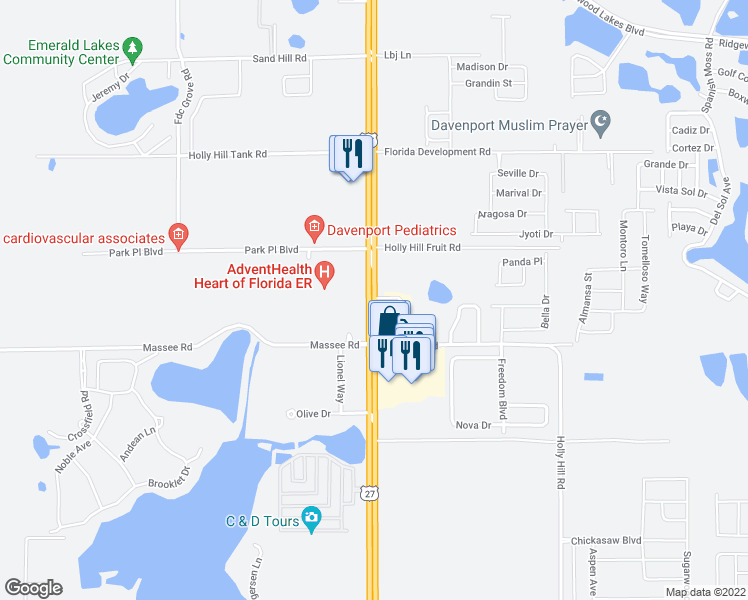 Map Of Us 27 In Florida.40230 Us Highway 27 Haines City Fl Walk Score