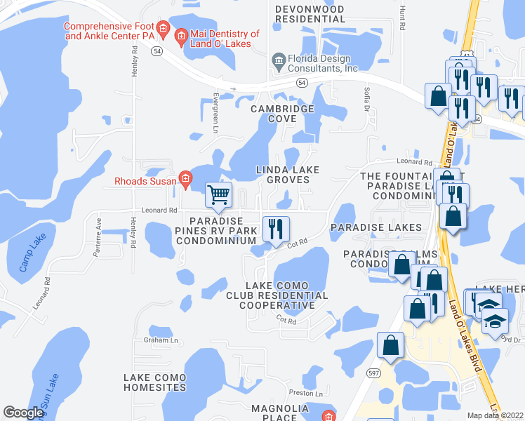 Leonard Rd & Woodruff Loop, Land O' Lakes FL - Walk Score