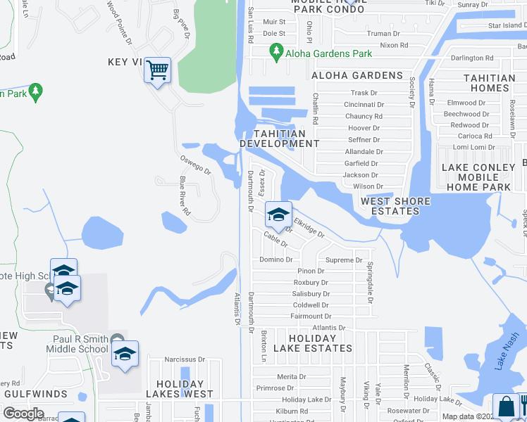 Holiday Florida Map.3043 Bright Drive Holiday Fl Walk Score