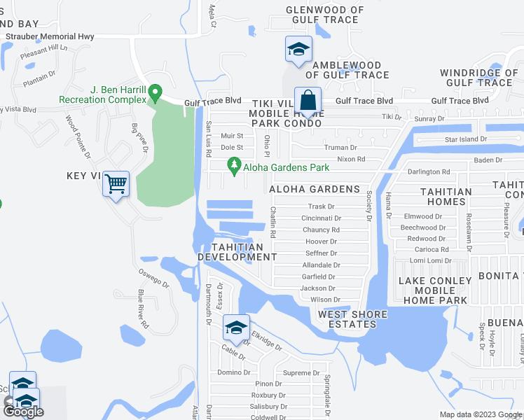 Holiday Florida Map.2341 Chatlin Road Holiday Fl Walk Score