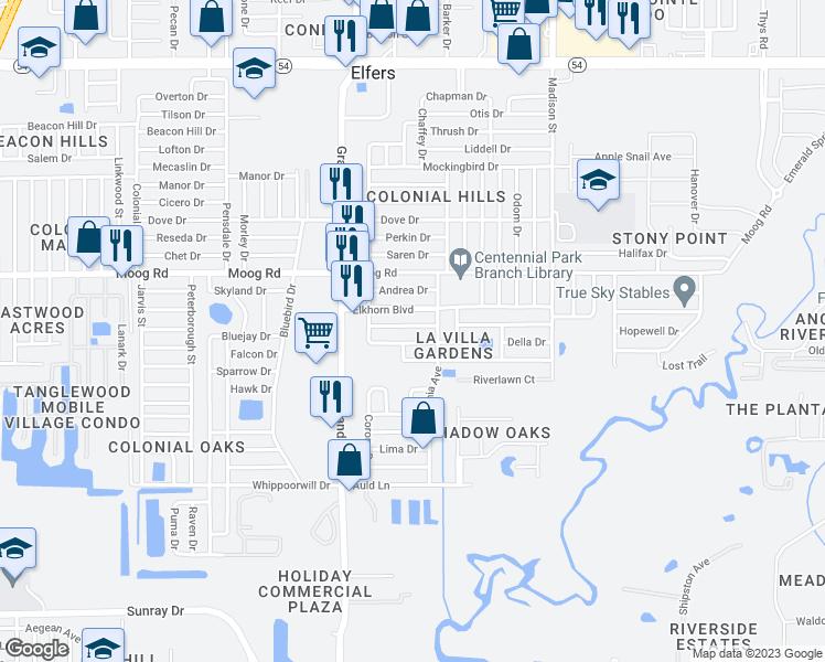 Holiday Florida Map.5636 Canosa Drive Holiday Fl Walk Score