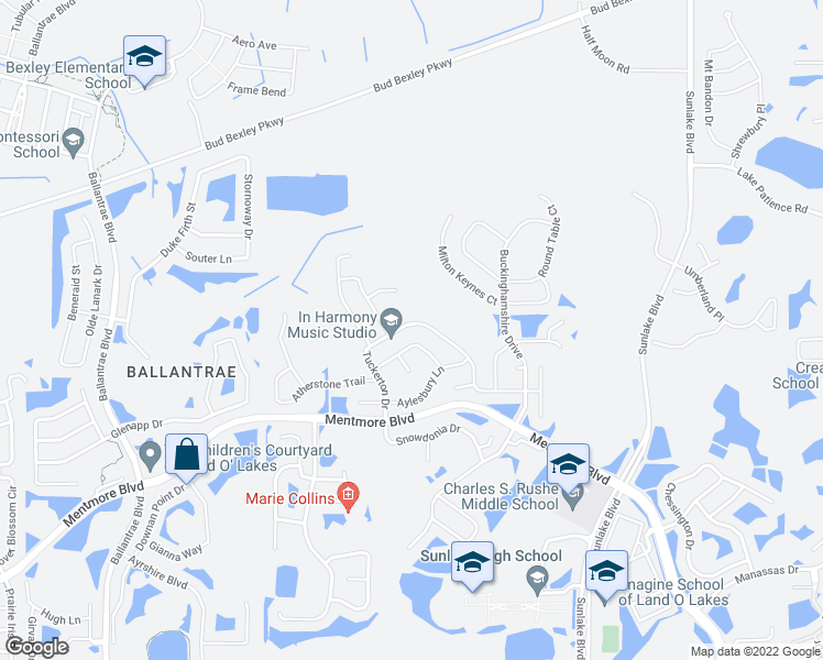 Land O Lakes Florida Map.3714 Tuckerton Drive Land O Lakes Fl Walk Score