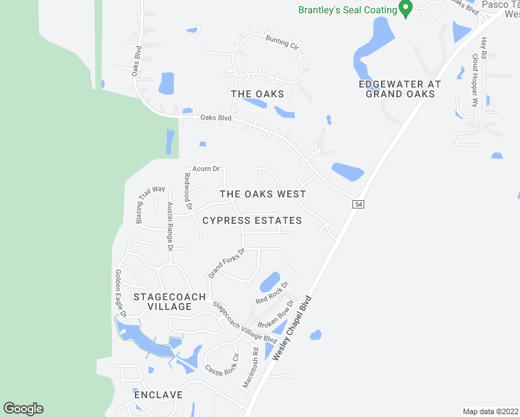 map of restaurants, bars, coffee shops, grocery stores, and more near 25303 Beechwood Drive in Land O' Lakes