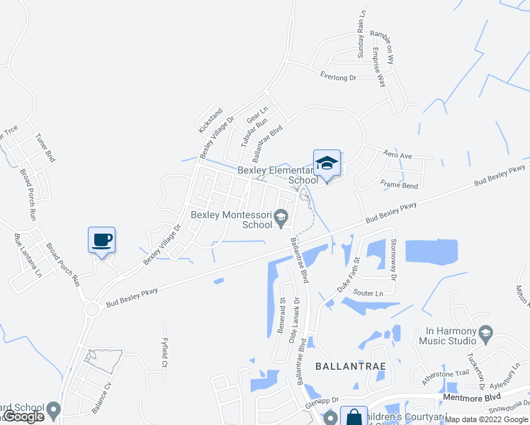 map of restaurants, bars, coffee shops, grocery stores, and more near 4100 Welling Terrace in Pasco County