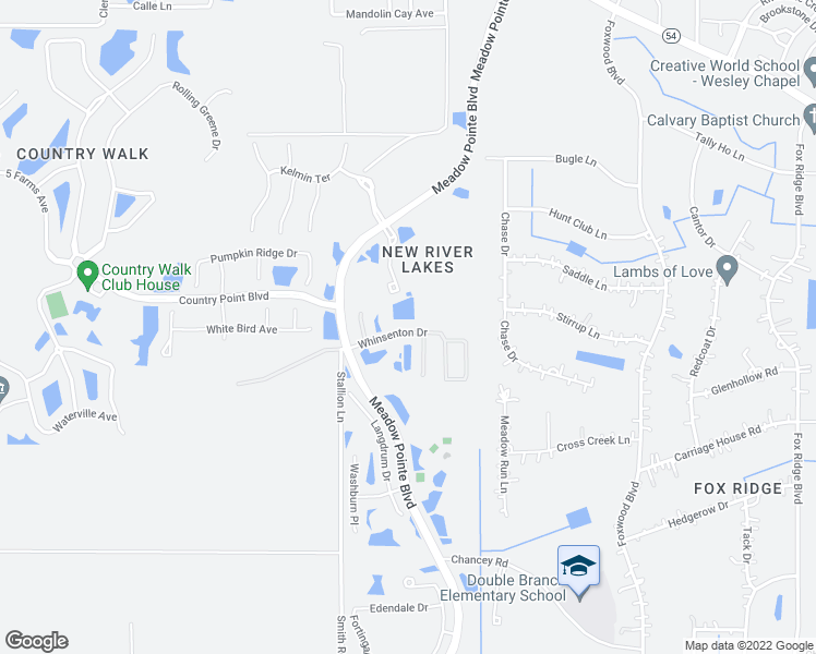 map of restaurants, bars, coffee shops, grocery stores, and more near 31131 Whinsenton Drive in Wesley Chapel