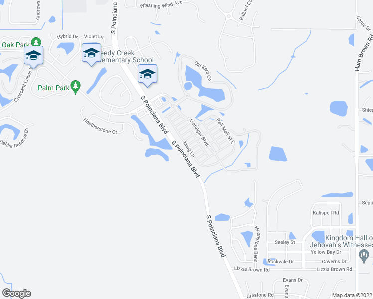 map of restaurants, bars, coffee shops, grocery stores, and more near 2628 Marg Lane in Kissimmee
