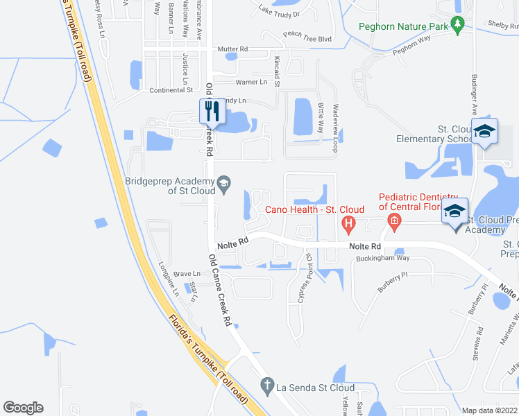 St Cloud Florida Map.3121 Crestwood Circle St Cloud Fl Walk Score