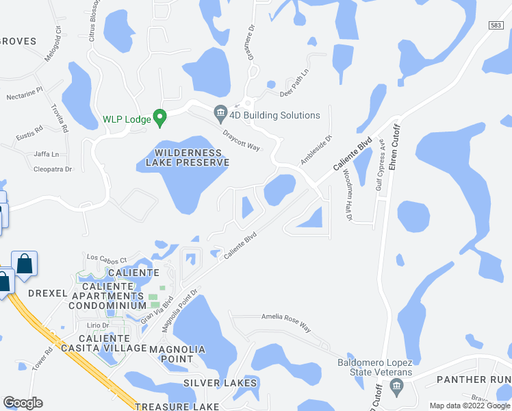 map of restaurants, bars, coffee shops, grocery stores, and more near 7030 Derwent Glen Circle in Land O' Lakes